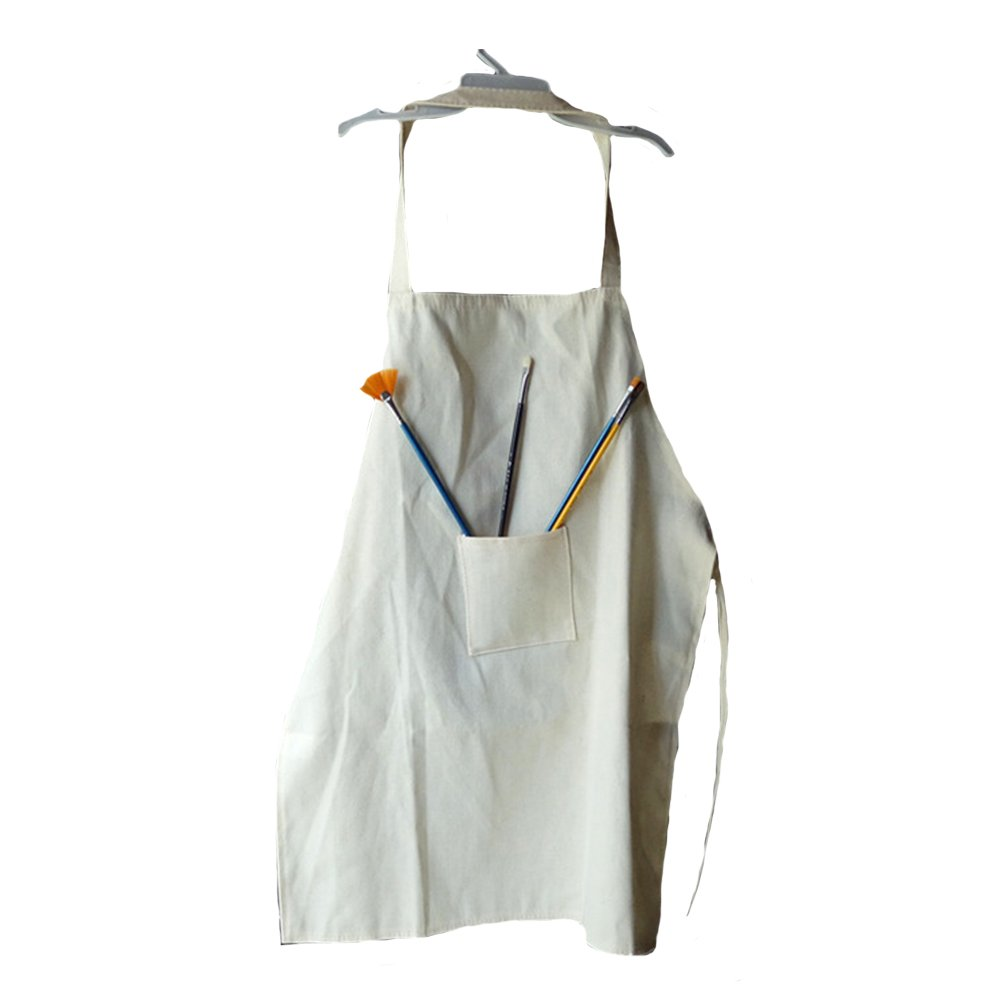 Young Artist DIY Drawing Painting Smock White to be Decorated Kids Apron Set of 3 OUBEI