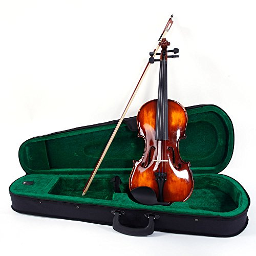 Glarry Full Size 4/4 Brilliance Spruce Wood Classical Solidwood Antique Violin for Beginners with Voilin Case,Bow,Shoulder Rests,Electronic Tuner,Additional Strings,Rosin by GLARRY