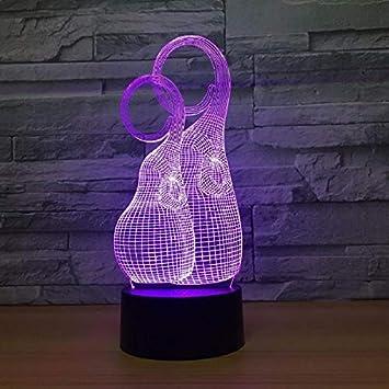 Illusion Lampe Acryl Abstrakte Kreativitat 3d Lampe Plexiglas Led Nachtlicht Usb Led 3d Leuchten Tischlampe 3d Nachtlicht Amazon De Baby