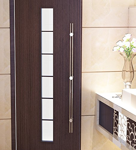 DIYHD 47'' stainless steel straight line wood door handle pull barn door gate long handle