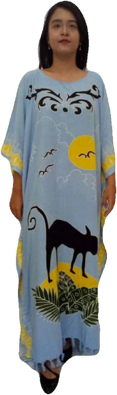 Cool Kaftans CAT Feline Kaftan Caftan Cool Beach Cover Dress Plus