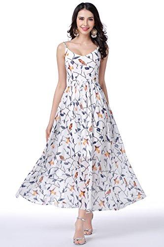 GLOBAL VASION Women's Vintage Maxi Dresses (L, Chiffon Boho - Store F2