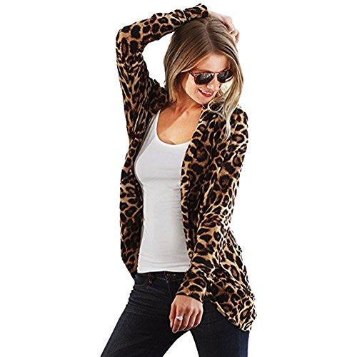 Print Leopard Femme Fashions Gilet Brown SA ROw6q