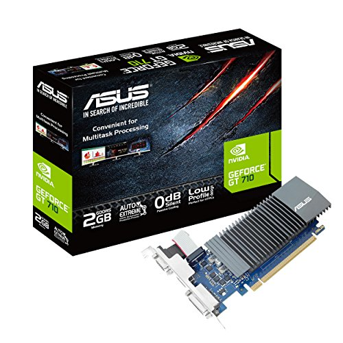 ASUS GeForce GT 710 2GB GDDR5 HDMI VGA DVI Graphics Card Graphic Cards GT710-SL-2GD5-CSM (Video Card Nvidia 2gb)