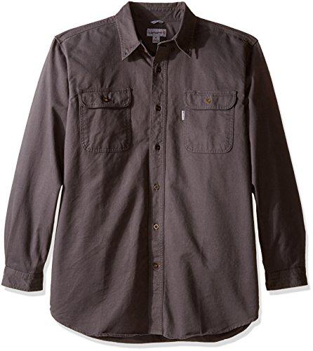 Carhartt Men's Oakman Sandstone Twill Original-Fit Work Shirt, Gravel, Regular Medium