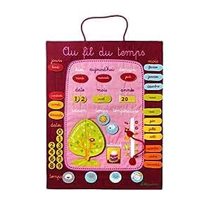lilliputiens jeux ducatifs divers planning au fil du temps rouge beb. Black Bedroom Furniture Sets. Home Design Ideas