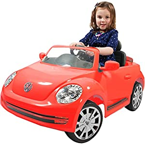 Rollplay-VW-Beetle-6-Volt-Battery-Powered-Ride-On-Red