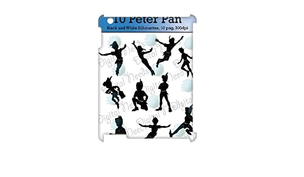 3D [peterpan serie] iPad 2,3, 4 casos 10 peterpan siluetas Png y ...