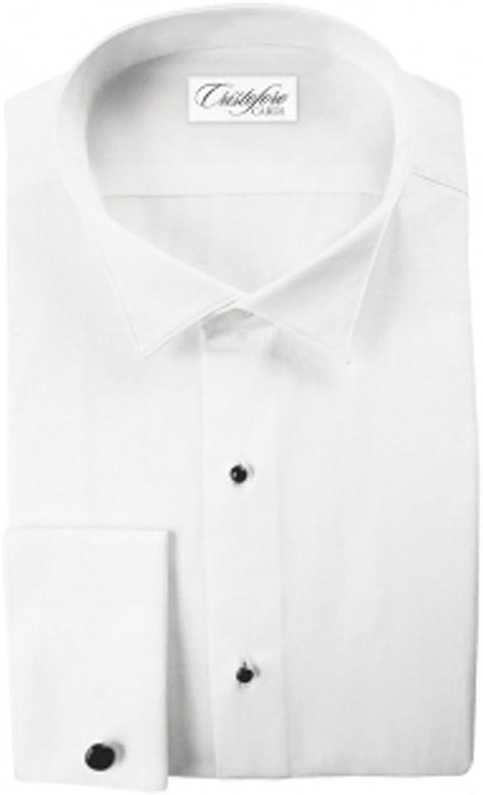 Cardi Mens 100/% Cotton Wing Collar Tuxedo Shirt 1//4 inch Pleat