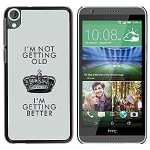 For HTC Desire 820 Case , Better Old Birthday Crown King - Diseño Patrón Teléfono Caso Cubierta Case Bumper Duro Protección Case Cover Funda