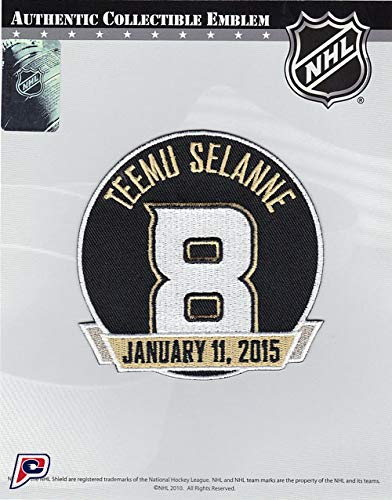 (2014-15 Anaheim Ducks Retirement of Teemu Selanne #8 Jersey Patch)