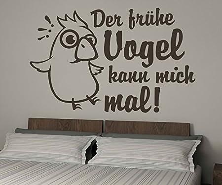 Wandtattoo Der Fruhe Vogel Kann Mich Mal Spruch Lustig Sticker