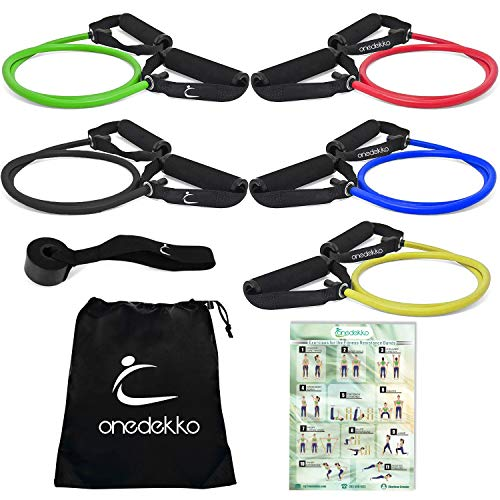 onedekko Resistance Stretch Bands with Handles(5) (Low Band)