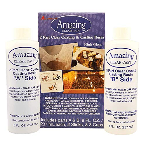 (Alumilite Amazing Clear Cast, 8 oz of Clear Coating and 8 oz of Casting Resin)