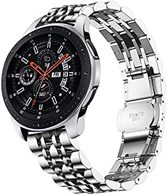TOPsic Correas para Gear S3 Frontier/Classic Bandas, 22mm Acero Inoxidable Metal Correas Pulsera para Samsung Gear S3 Cassic/S3 Frontier/Galaxy Watch ...