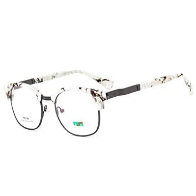2c1a759bbe Z-P Vintage Style For Unisex Ultralight Metal TR90 Frame Clear Lens Glasses