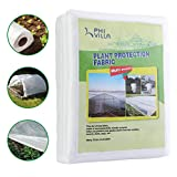 PHI VILLA Frost Blanket Plant Cover Floating Row Cover, 1.5 oz, 10'x100'