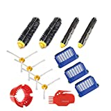 Replacement Parts Kit Bristle Brush & Flexible Beater Brush & Aero Vac Filter & Armed-3 Side Brush for iRobotAnewise Roomba 600 Series 610 620 630 650 650 655 660 690 Vacuum Cleaner