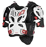Alpinestars A-10 Full Chest Protector-White/Black/Red-XS/S