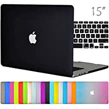 "Easygoby 2in1 Matte Frosted Silky-Smooth Soft-Touch Hard Shell Case Cover for Apple 15.4""/ 15-inch Macbook Pro with Retina Display (Model: A1398)+ Keyboard Cover - Black"