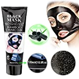 Black Mask for Acne Mousand Blackhead Remover MaskBlackhead Purifying Peel Off Mask,Activated Charcoal Blackhead Exfoliators Remover Clear Mask Black Mud Pore Removal Strip Mask For Face Nose Acne Treatment