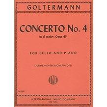 Goltermann Georg Concerto No 4 In G Major Op. 65 Cello Piano - by Julius Klengel Leonard Rose