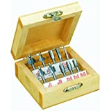 Proxxon 29020 Router Bit Set In Wooden Box, 10-Piece