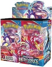 Tawohi 36 packs Pokemon kaarten, kinderen Pokemon kaartspellen, Pokemon Booster Box, zeldzame kaarten collectie Gift voor kinderen Anime Fans