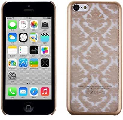 For iPhone 5C, Mchoice Carved Damask Vintage Pattern Matte Hard Case Cover for iPhone 5C