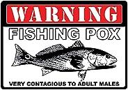 River's Edge Warning Fishing Pox Tin