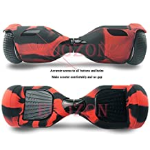 Silicone Case for 6.5inch Classic Hoverboard,Self balance Scooter Case,Hoverboard case (Black-red) - Eoozon