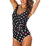 Passionate Adventure One Piece Swimsuit Slimming Tummy Control Swimwear Plus Size Monokini High Cut Backless