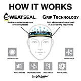 Halo Headband Sweatband Slim, 1-Inch, Black