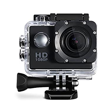Cymas Full HD 1080P 2.0 Inch Sports Action Camera with 16 Accessories