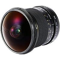 XCSOURCE 8mm F/3.5 Ultra Fisheye Lens Wide Angle Aspherical Circular Lens For Canon EOS T6i/T5i/T4i/T3i, 60D/70D/80D/7D/7D MK II DSLR Cameras LF840