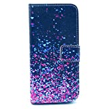 SuperMore YX Excellent Pattern Holster for Samsung Galaxy S3 I9300 with PU and TPU inside Cover Magic Button Holder Stander Card hole Protective Phone Case - Purple stars