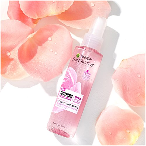 Garnier SkinActive Facial Mist Spray with Rose Water, 4.4 Fl Oz (Pack of 1)