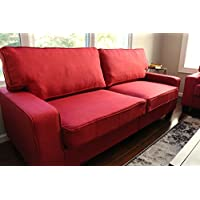 Home Life 2-3 Person Apartment Size Contemporary Pocket Coil Hardwood Sofa 281 73 Wide - Burgundy