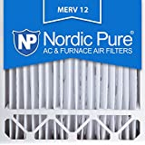 Nordic Pure 20x20x5HM12-2 MERV12 Honeywell Replacement Air Filter, Box of 2