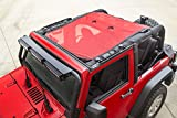 Rugged Ridge 13579.26 Red Eclipse Full Sun Shade for 2007-2018 Jeep Wrangler JK 2 Door Models