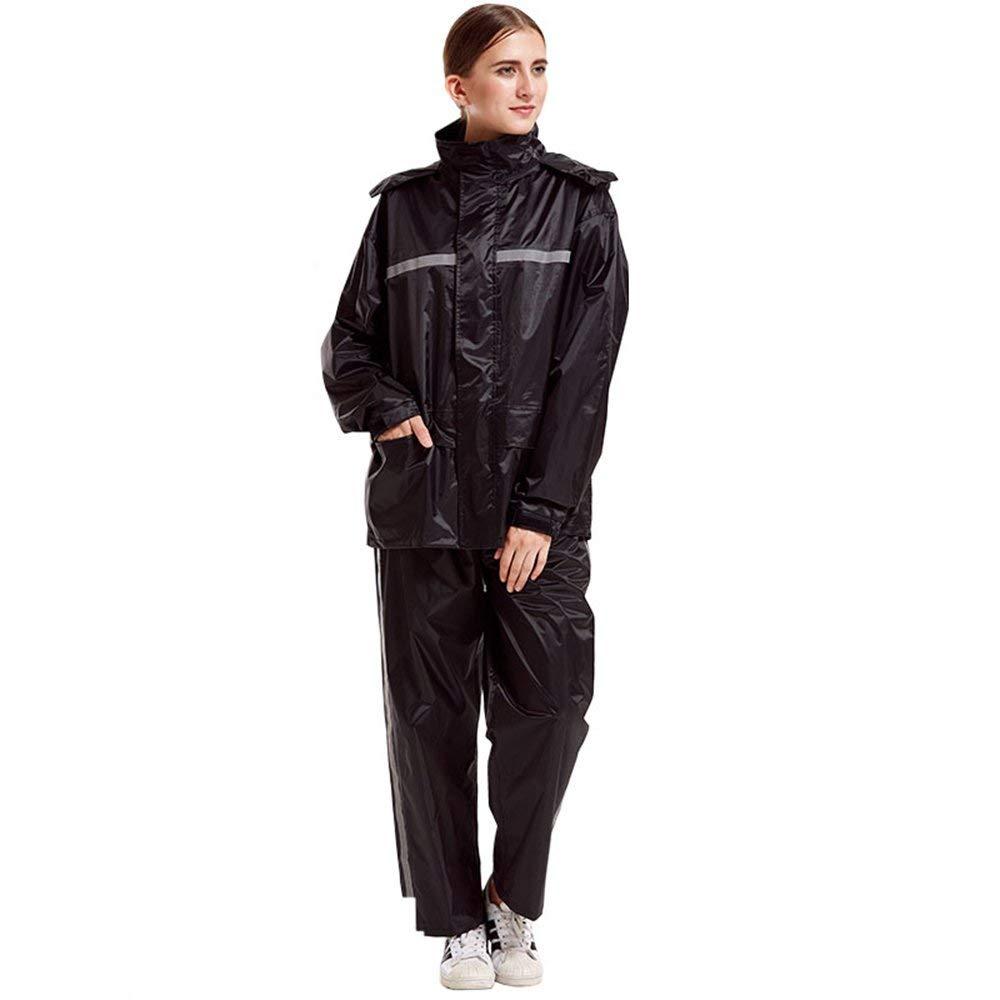 Female- 3 XXX-grand XHCP Imperméable Clignotant - Polyester Pantalon de Pluie Split Set, Adultes mÂles et Femelles Marcher sur Pied épaississeHommest AugHommester PVC revêteHommest imperméable Poncho extérieur