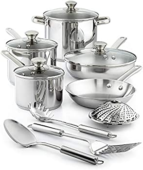 Tools of the Trade Stainless Steel 13-Piece Cookware Set