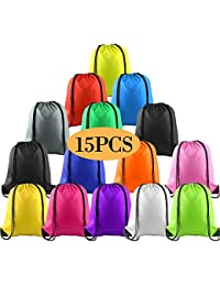 Multicolor Drawstring Backpack Bags Cinch Sack Pull String Bags