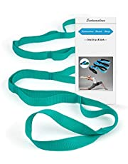 Yoga Strap Stretching Strap physical therapy equipment Stretch Band Physical Therapy Rehab Multi-Loop Strap Nonelastic Exercise Strap for Pilates, Dance and Gymnastics with Instructional Guide