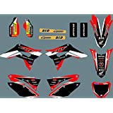 MXP DST0723 3M Customized Motorcross Graphics Motorcycle Decals Stickers Kit Fit for Honda CRF450R 2017 2018 2019