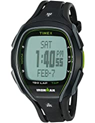 Timex Unisex TW5K96400 Ironman Sleek 150 Tapscreen Black/Green Full-Size Resin Strap Watch