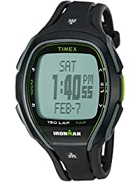 Unisex TW5K96400 Ironman Sleek 150 Tapscreen Black/Green Full-Size Resin Strap Watch