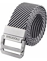 "Nylon Web Belts for Men,Tactical Military Style 1.5"" wide D-ring Buckle Men's Belt"