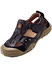 Boys & Girls Summer Outdoor Athletic Leather Closed-Toe Spoort Sandals (Toddler/Little Kid/Big Kid)