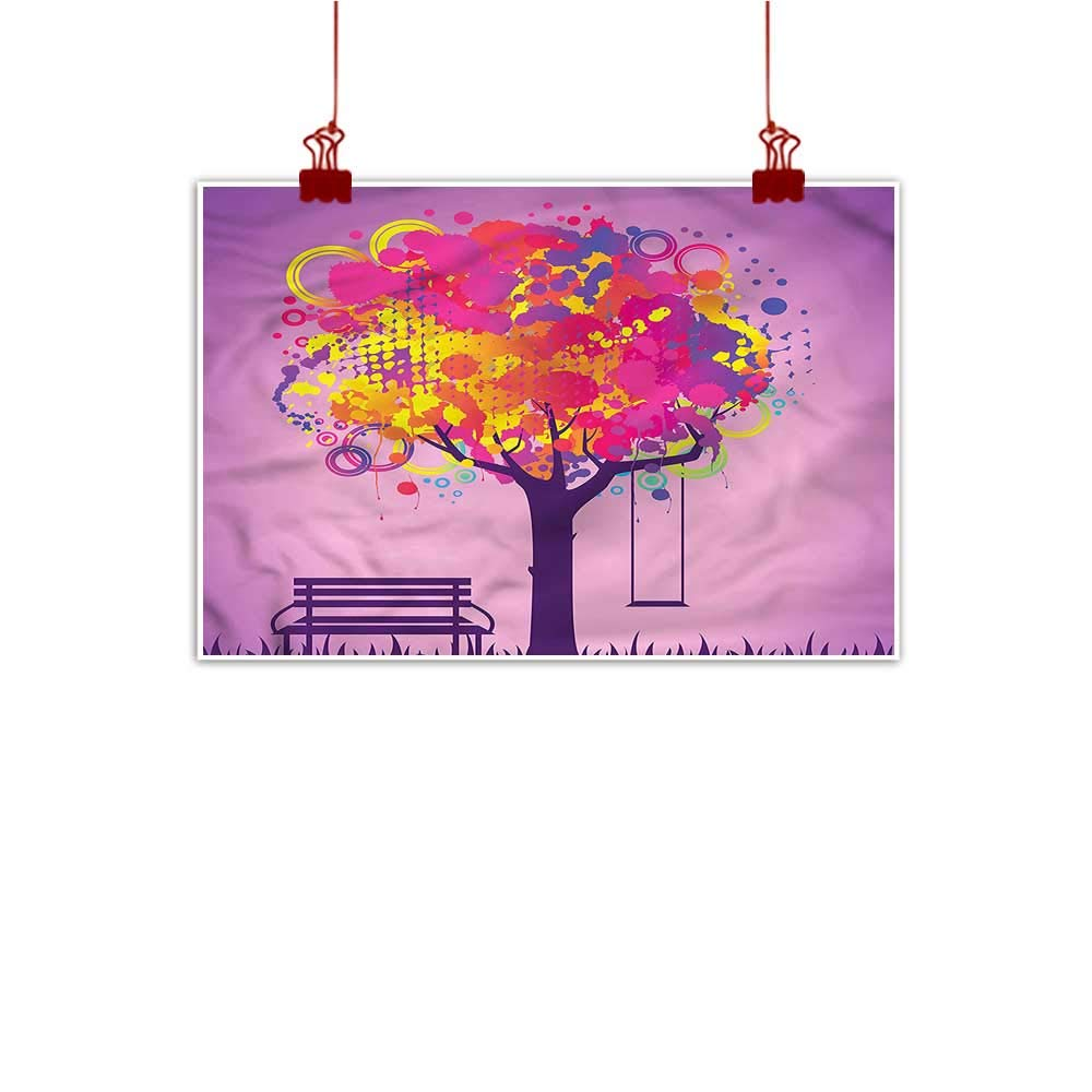 color11 36 x24  (90cm x 60cm) Anzhutwelve Wall Painting Prints Tree,Blooming Habitat Botany Fruit Watercolor Painting Home Decor Prints Posters